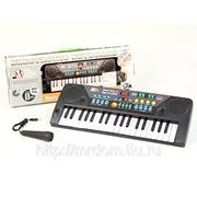 Пианино mq-802usb с микрофоном и mp3, на батарейках, в коробке 52,8*16,8*5,5см (836021) фото