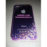 Крышка для iphone 4. сиреневая. фото