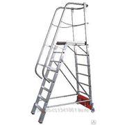 820181 Лестница - платформа с 8-ю алюм. ступеньками (нов.) фото