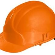 Каска строительная (оранжевая) фото