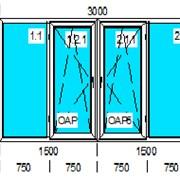 Балконнный блок WHS 58 мм стеклопакет 1 камерный фото
