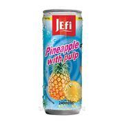"""Фруктовый напиток в банках с кусочками фруктов """"JEFI"""" c ананасом, 240 мл, Малайзия фото"""