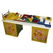 Стол дидактический, стол дидактический с набором игрушек, малый, малый стол дидактический, дидактический стол. фото