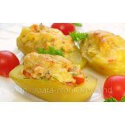 Картофель фаршированный курицей фото