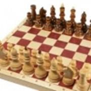 Шахматы турнирные утяжеленные в комплекте с доской фото