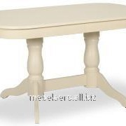 Стол деревянный раскладной МАРСЕЛЬ140, слоновая кость фото