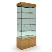 Стеклянная витрина Олимпия-Премьер с накопителем фото