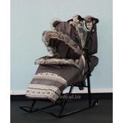 Санки-коляска Kristy Premium Soft Серый фото