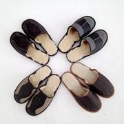 Тапочки домашние кожаные мужские фото
