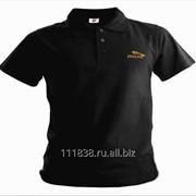 Рубашка поло Jaguar черная вышивка золото фото