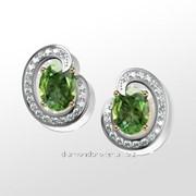Серьги с бриллиантами E28797-3 фото