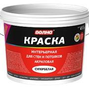 Краска водно-дисперсионная интерьерная для стен и потолков, 14 кг фото