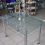 Стол обеденный стеклянный фото