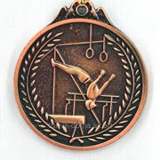 Медаль спортивная гимнастика - бронза фото