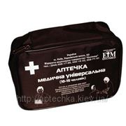 Аптечка первой помощи медицинская универсальная в тканевом футляре фото