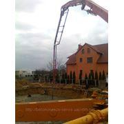 Услуги автобетононасосов, стационарных бетононасосов фото