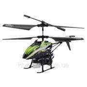 Вертолёт 3-к микро и/к BUBBLE мыльные пузыри (зелёный) фото