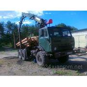 Лесовоз с манипулятором КАМАЗ 43101 фото