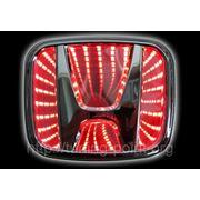 3D LED Логотип Honda (красный) фото