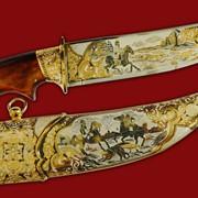 Нож Царская охота при царе Василии фото