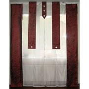 Комплект панельных шторок бордо, код 20_5т фото
