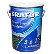 Грунт-эмаль по ржавчине шоколадная (Krafor) 5,5кг фото