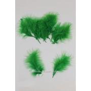 Набор декоративных перьев /11-15 штук/, зелёный фото