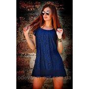 Платье Хлое синее фото