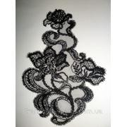 Кружевной мотив шантильи Solstiss (цвет: черный)