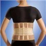 Корсет ортопедичний (зiгрiв., з 3 ребрами жорсткостi), розмiр XL/XXL, люкс фото