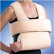 Бандаж на плечовий суглоб зiгрiваючий (пов'язка Дезо), розмiр S/M, люкс фото
