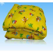 Одеяло детское 110*140 бязь файбер фото