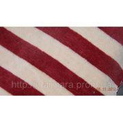 Велюр полосатый Бордо - Беж фото