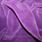 Велюр фиолетовый однотонный фото