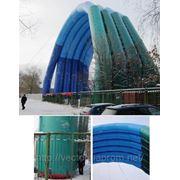 Пневмокаркасное сооружение для накрытия строительных площадок. фото