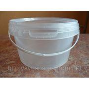 Пластиковое ведро для меда 2.3л. фото