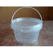 Пластиковое ведро для меда 0.5 л. фото