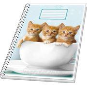"Тетрадь А4, 96л. клетка,тверд. переплет, бок. спираль, ламин. обложка, 2х. сторон. ""Котята"" фото"