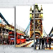 Модульна картина на полотні Лондонський Тауер Брідж код КМ100130-078 фото