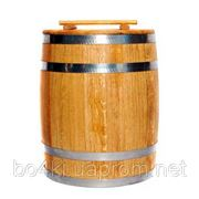Бочка деревянная для солений, кадка 10л обруч из нержавеющей стали фото