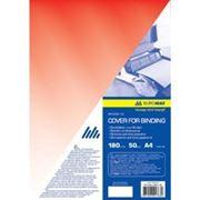 Обложка для брошуровки прозрачная А4, 180 мкм, красная Buromax фото