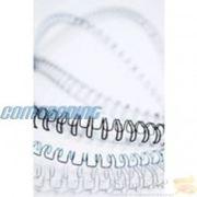 Металлические пружины d 6.4 мм, белые 100 шт фото