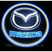 Подсветка дверей авто / лазерная проeкция логотипа Mazda   Мазда фото
