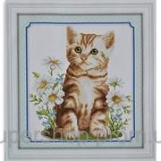Набор для вышивки картины Котик Рыжик 34х32см 373-37010689 фото