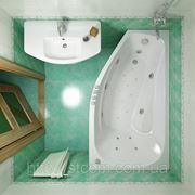 Акриловая гидромассажная ванна Triton - Скарлет левая, 1670 x 960 мм. фото