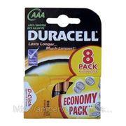 Батарейки, Duracell, щелочные, алкалайн, LR3, ААА 8шт фото