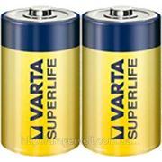 Батарейка VARTA SUPERLIFE, R20, D FOL 2 ZINK-CARBON фото