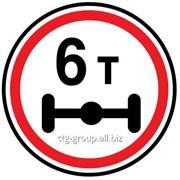 Дорожный знак Ограничение нагрузки на ось фото