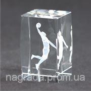 Награда стеклянная с 3D гравировкой Баскетбол KR5080/BAS фото