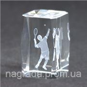 Награда стеклянная с 3D гравировкой большой теннис KR5080/EART фото
